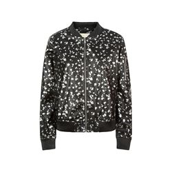 Michael Kors Printed Leather Bomber