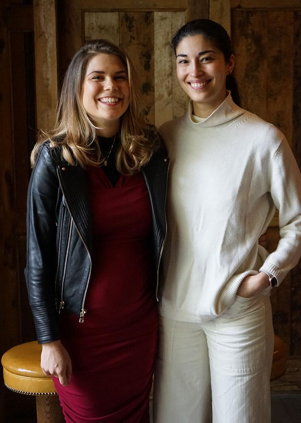 Madeleine Shaw and Caroline Issa at the Bicester Village #Brunchtalks event