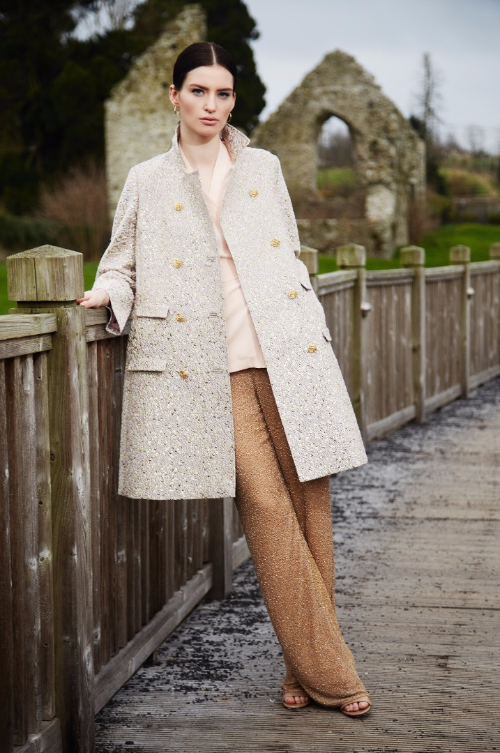 Louise Kennedy Brocade coat
