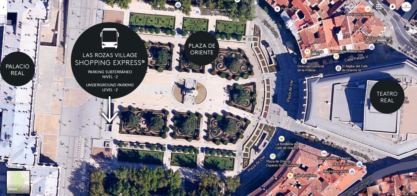 Arrêt de la navette Shopping Express® Las Rozas Village