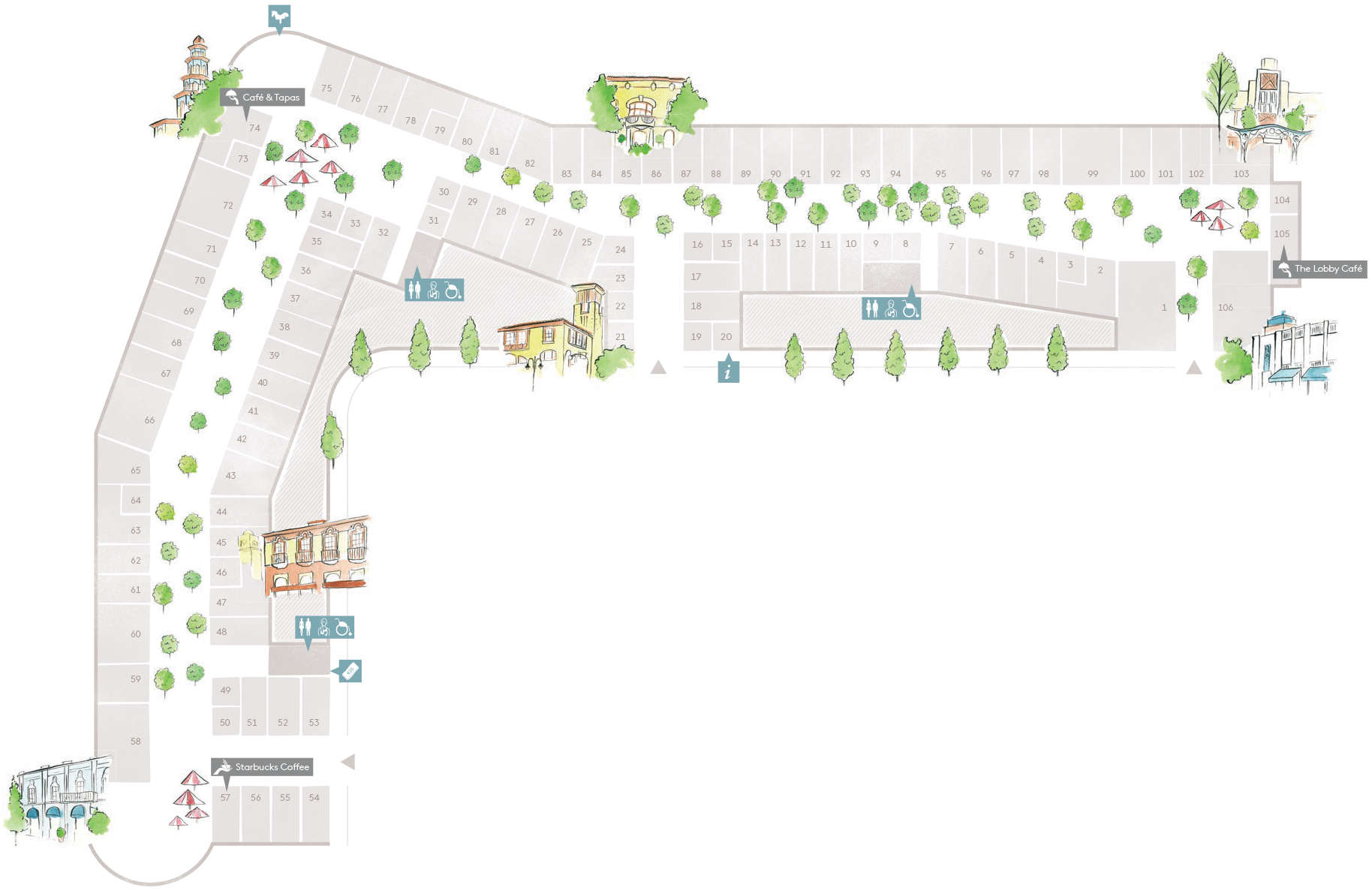 Village map las rozas village designer outlet shopping - The first outlet las rozas ...