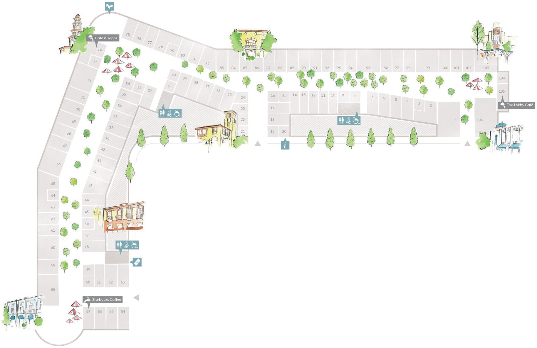 Village map las rozas village designer outlet shopping for Outlet las rozas