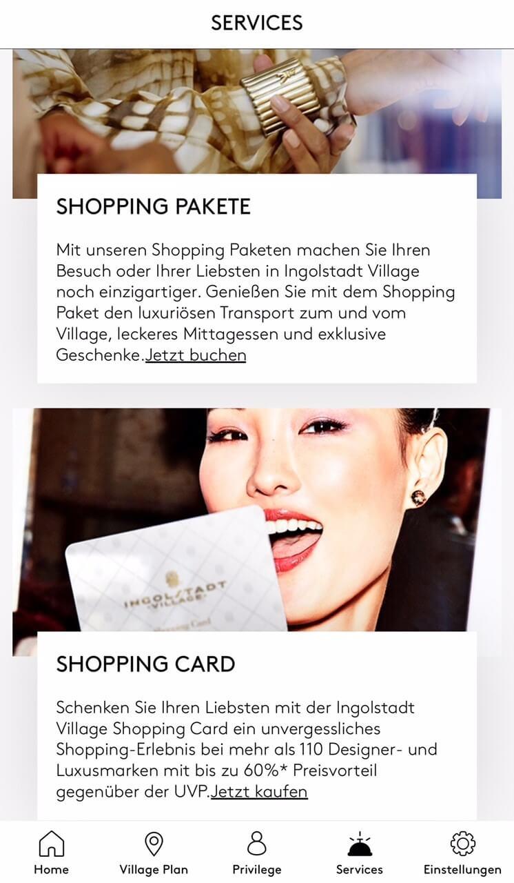 Lernen Sie unsere neue App kennen Ingolstadt Village