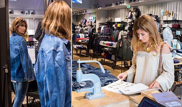 Personaliza tus prendas denim en pepe jeans la roca village - Rebeca labara ...